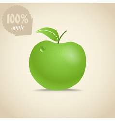Cute fresh apple vector