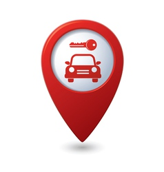 Parking for car icon on map pointer vector