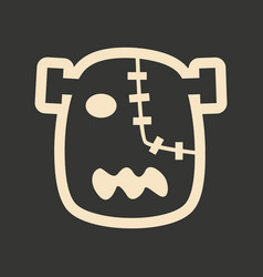 Flat in black and white mobile application zombie vector