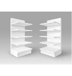 White exhibition trade stands shop racks vector