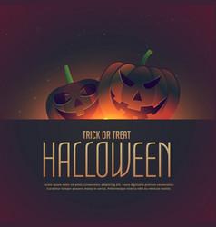 Halloween background with lauching pumpkins vector