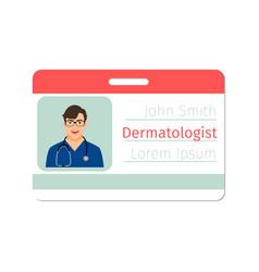 dermatologist medical specialist badge vector image