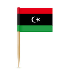Flag of libya flag toothpick on white background vector
