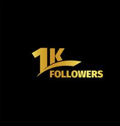 1k followers 1000 vector