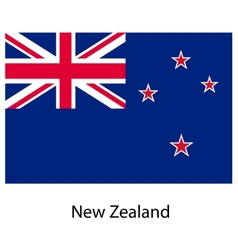 Flag of the country new zeland vector