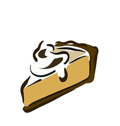 A piece of sponge cake vector