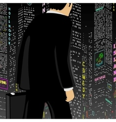 Man In The Big City vector image