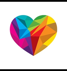 Gcreative colorful valentines crystal heart shape vector