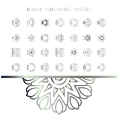 Traditional silver decor vector
