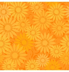 seamless sunflowers pattern background vector image