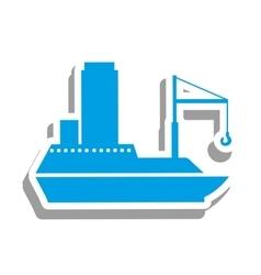 Cargo ship icon pictogram image vector