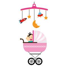 Cute baby toys icon vector