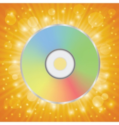 Disc icon vector