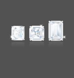 Em cut diamonds vector