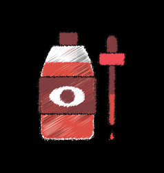 Flat shading style icon eye drops icon vector