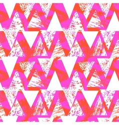 Hand painted bold pattern with triangles vector image vector image