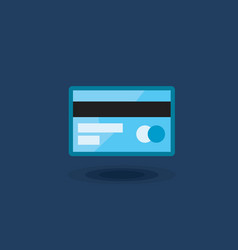 icon plastic bank card isolated vector image