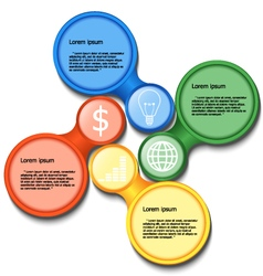 Infographic workflow layout vector image vector image
