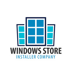 Logo windows store installer company vector