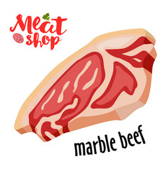 meat - marble beef icon fresh meat icon vector image vector image