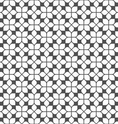 Monochrome seamless flower pattern in oriental vector