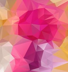 Reflective pink magenta polygonal triangular vector