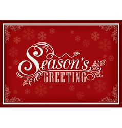 Season greeting word vintage frame vector image