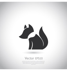 Stylized fox icon vector image
