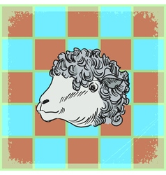 Vintage grunge background with sheep vector