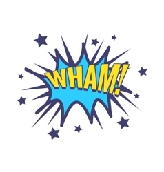 Wham Comic Speech Bubble vector image vector image