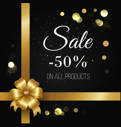 Winter sale poster -50 off on all products vector