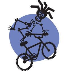 BMX Skeleton vector image
