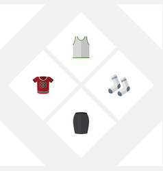 Flat dress set of singlet stylish apparel t vector