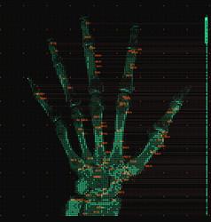 Green abstract hand tomography vector
