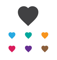 Of business symbol on hearts vector