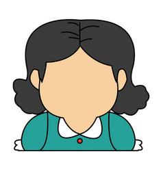 Grandma profile cartoon woman adult image vector