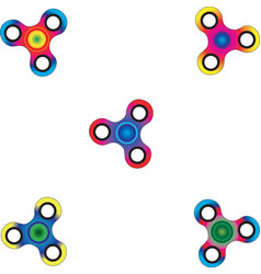 Colorful fashionable spinners vector
