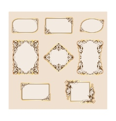 Set of template frames and borders vector