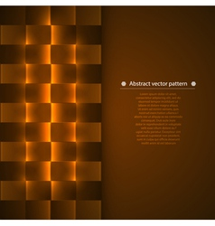 Geometric background with luminous vector