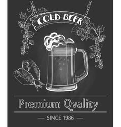 Vintage beer bar poster vector