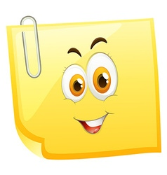 Happy face on yellow face vector