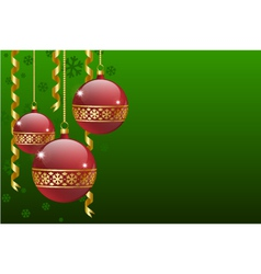 Christmas balls card vector
