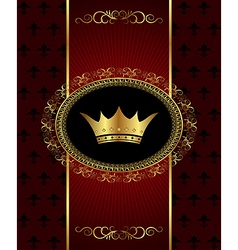 Vintage background with crown - vector