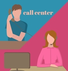 Support service call center vector