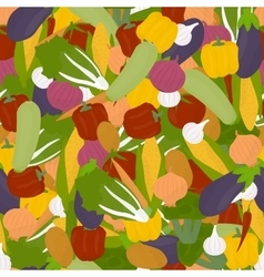 Veggies seamless pattern vector