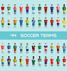 Soccer club team players big set vector