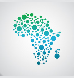 africa map connectivity vector image