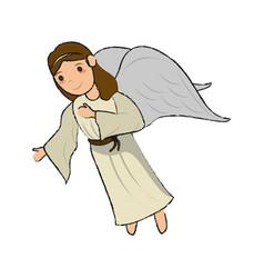 beautiful angel cartoon vector image vector image