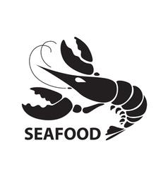 black lobster vector image vector image