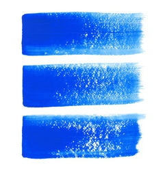 Blue ink brush strokes vector